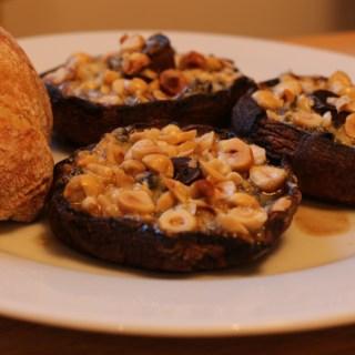 Baked blue mushrooms