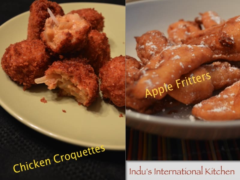 Around the World #1: Chicken Croquettes (Croquetas de Pollo), Apple fritters and a round up