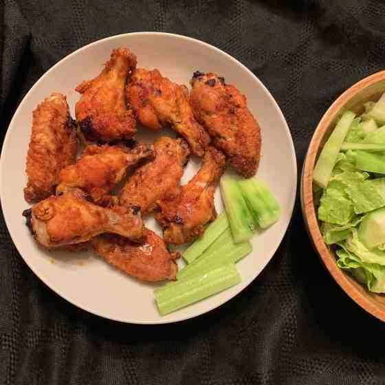 Crispy Masala Chicken Wings (Paleo, Whole30) || Baked Chicken Wings