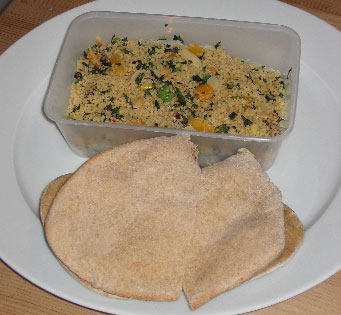 Couscous and Pita Bread