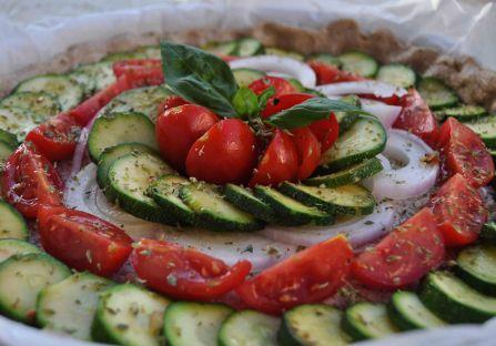 torta salata integrale zucchine e datterini (7)