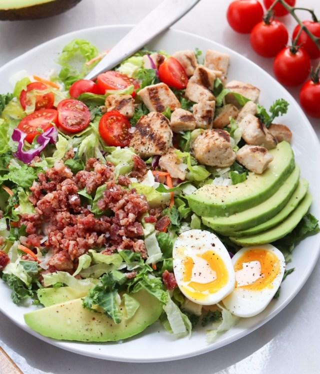 Gluten Free Club Grilled Chicken Salad - Finished