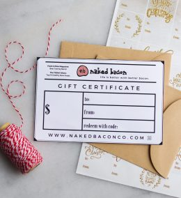 Whole30 Approved Gift certificate to NakedBaconCo.com