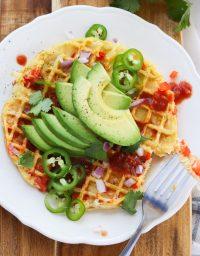 Whole30/Paleo Southwest Waffle Iron Omelets
