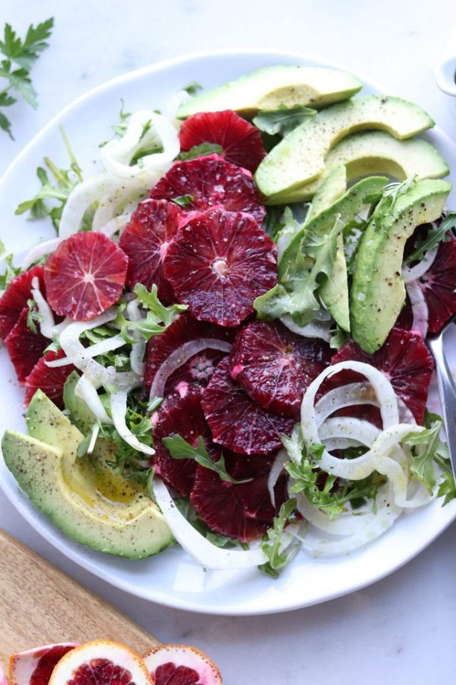 Whole30 Fennel, Blood Orange and Arugula Salad with Citrus Vinaigrette