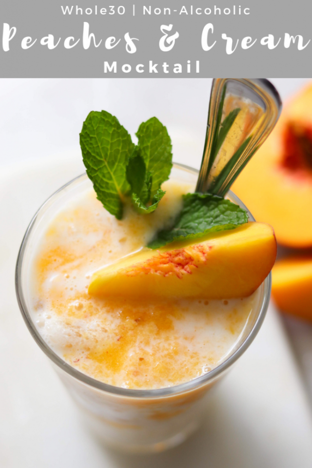 Peaches and Cream Mocktail - Pinterest Image