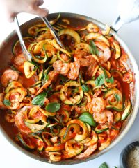 Whole30 Shrimp Fra Diavolo, Finished Dish