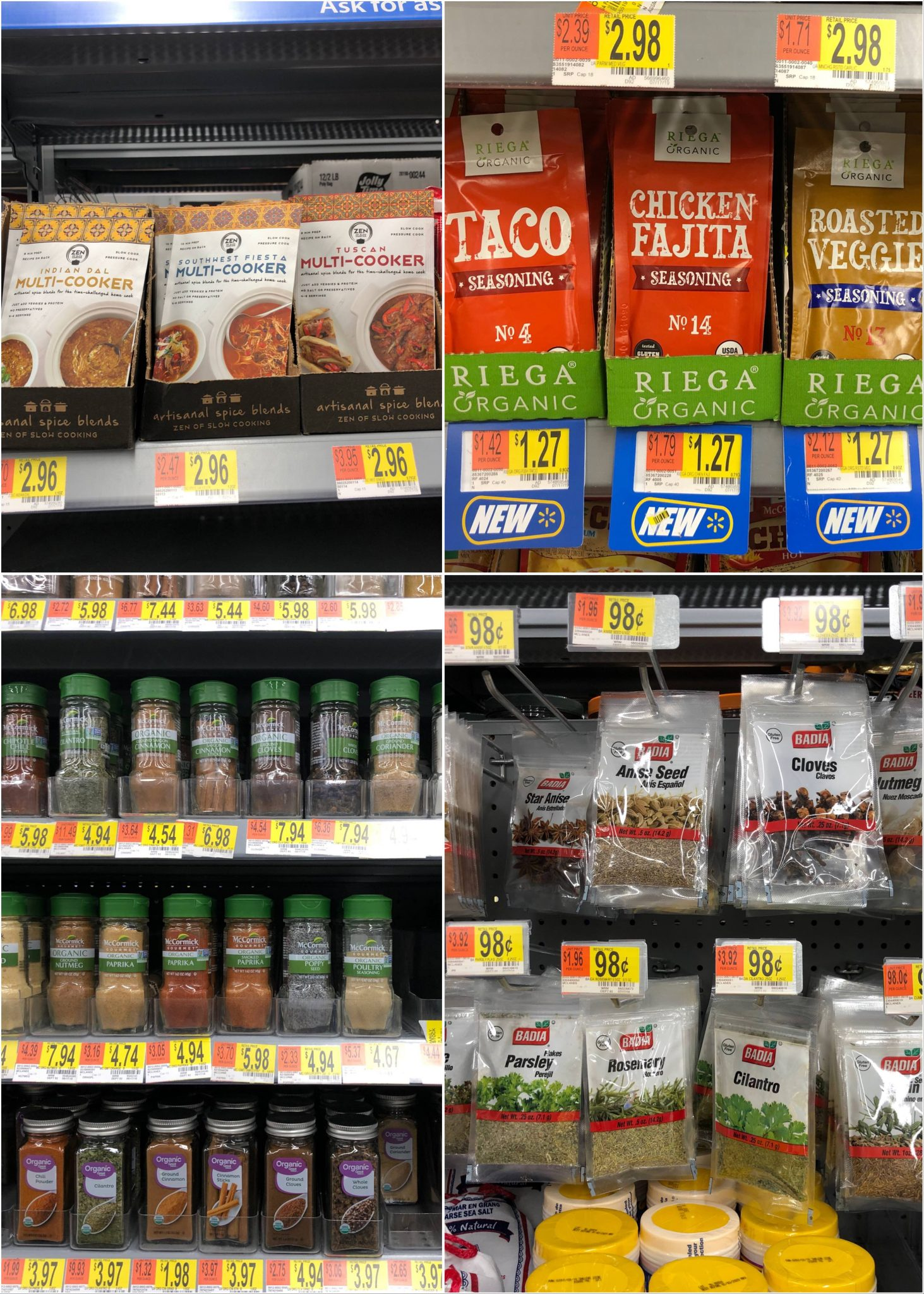 A collage of Whole30 compliant spices.