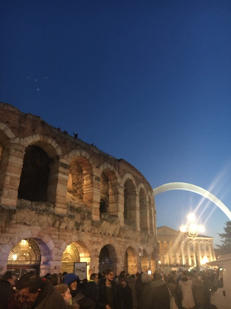 The Colosseum and Arch in Verona, Italy