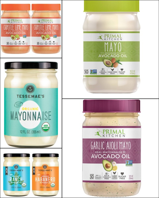 A collage of all 6 different flavors and brands.