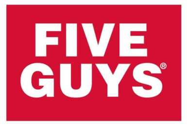 Five Guys Logo, the #5 ranked restaurant to eat at on Whole30.
