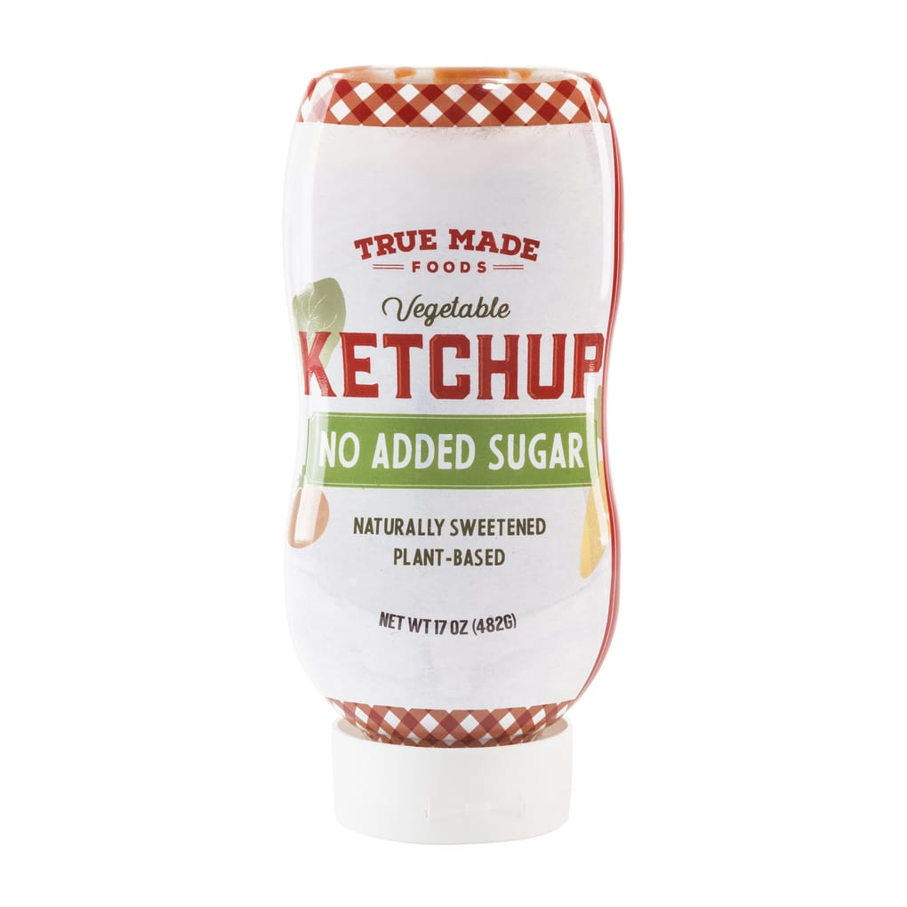 Close up of True Made vegetable ketchup.