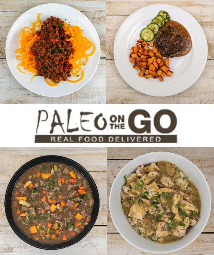 Cooked and plated Paleo on the Go meals.