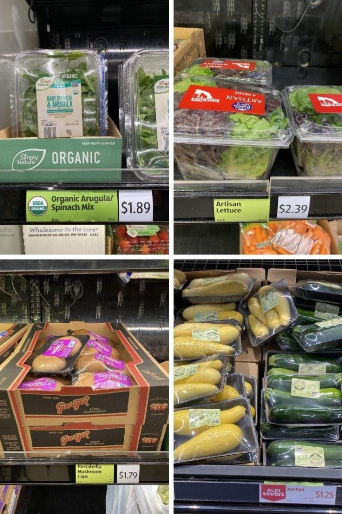 Close up photos of vegetables available at Aldi.