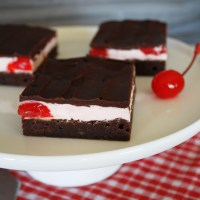Chocolate Covered Cherry Brownies
