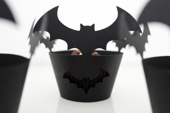 bat cupcake wraps