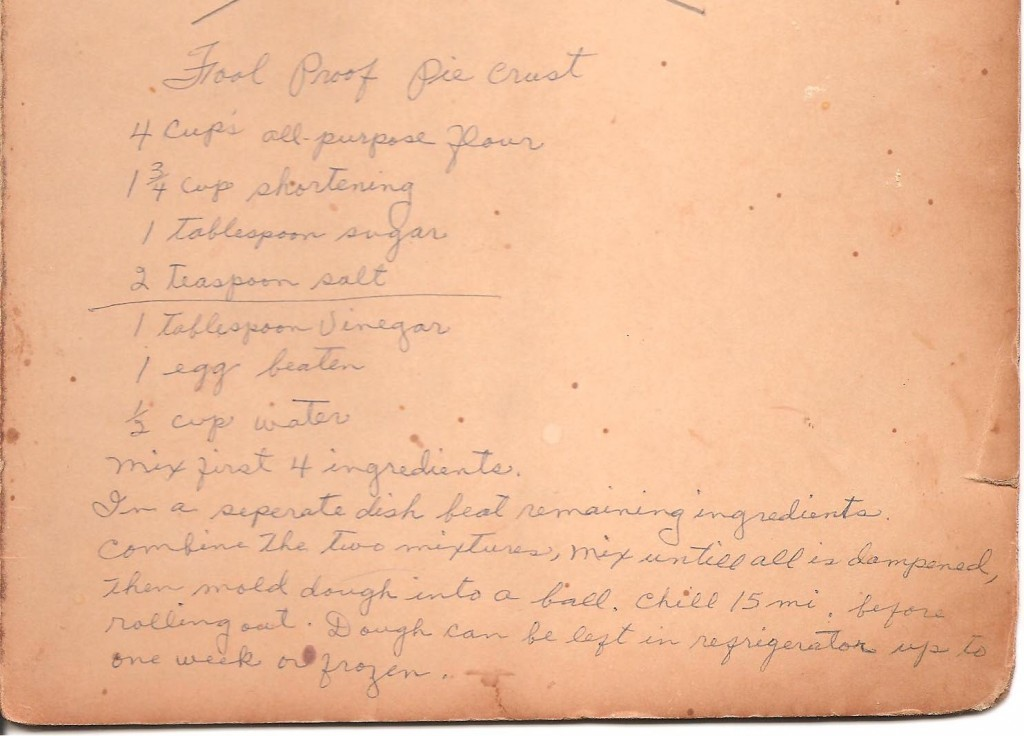 My grandmother's handwritten recipe