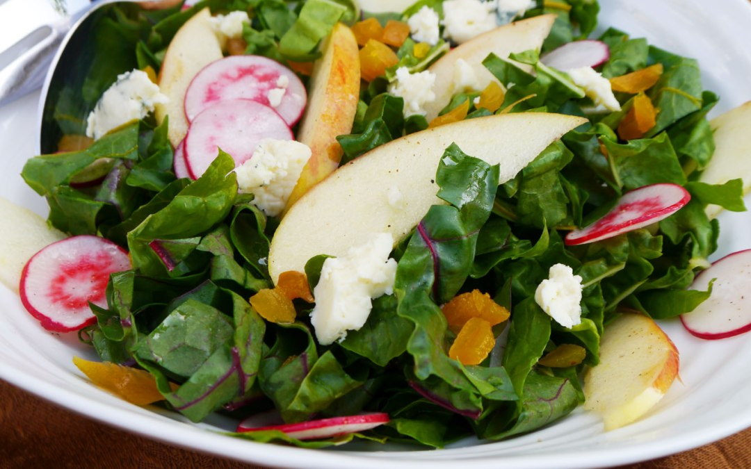 Rainbow Chard Salad With Apple And Radishes Cook Better Than Most Restaurants