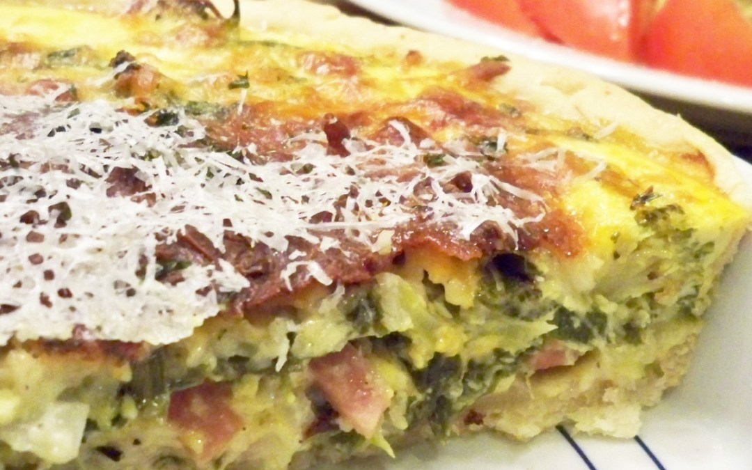 Ham and Vegetable Non-Traditional French Quiche
