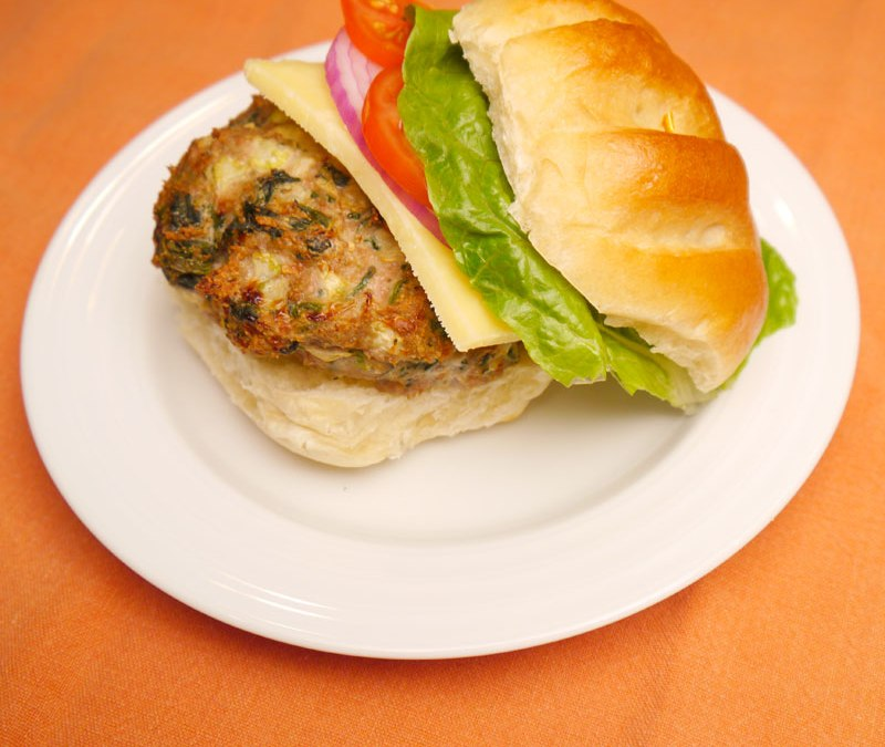 Spinach and Turkey Burgers