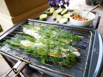 Fish Basket ready for the Grill