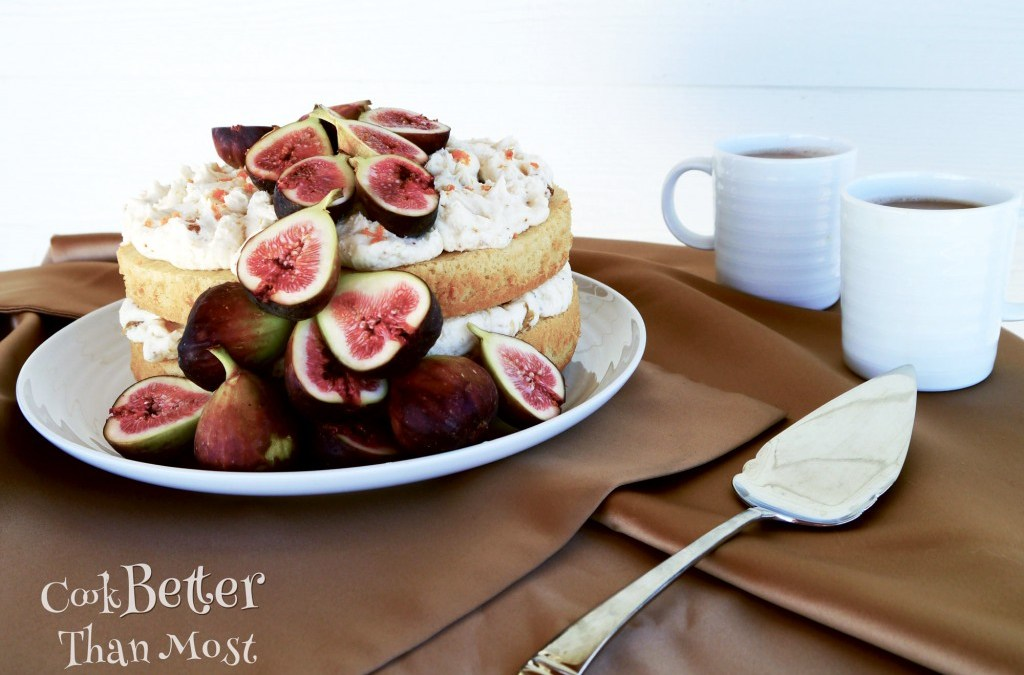 Nutmeg Wine Cake with Fig Buttercream Frosting