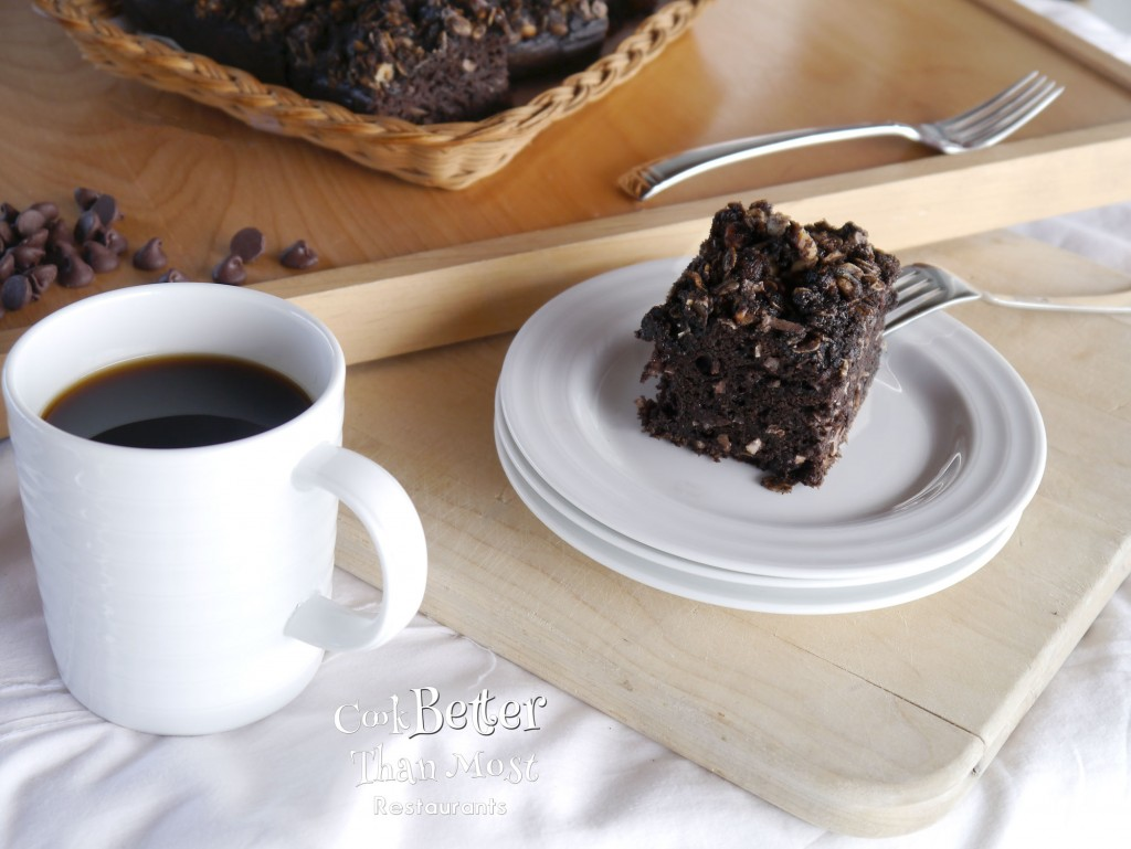 Dark Chocolate Coconut Banana Coffee Cake
