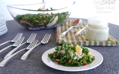 Fruit and Kale Salad with Poppy Seed Buttermilk Dressing