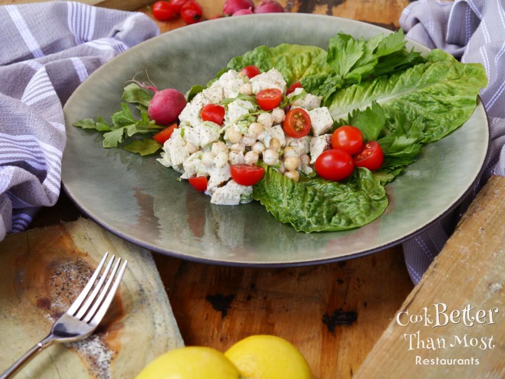 Creamy Arugula Chimichurri Chicken Salad