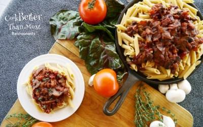 Fresh Tomato and Mushroom Arrabiata Pasta