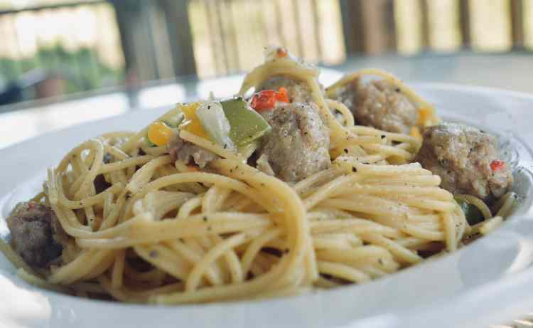 Italian Sausage, Onion, and Pepper Pasta