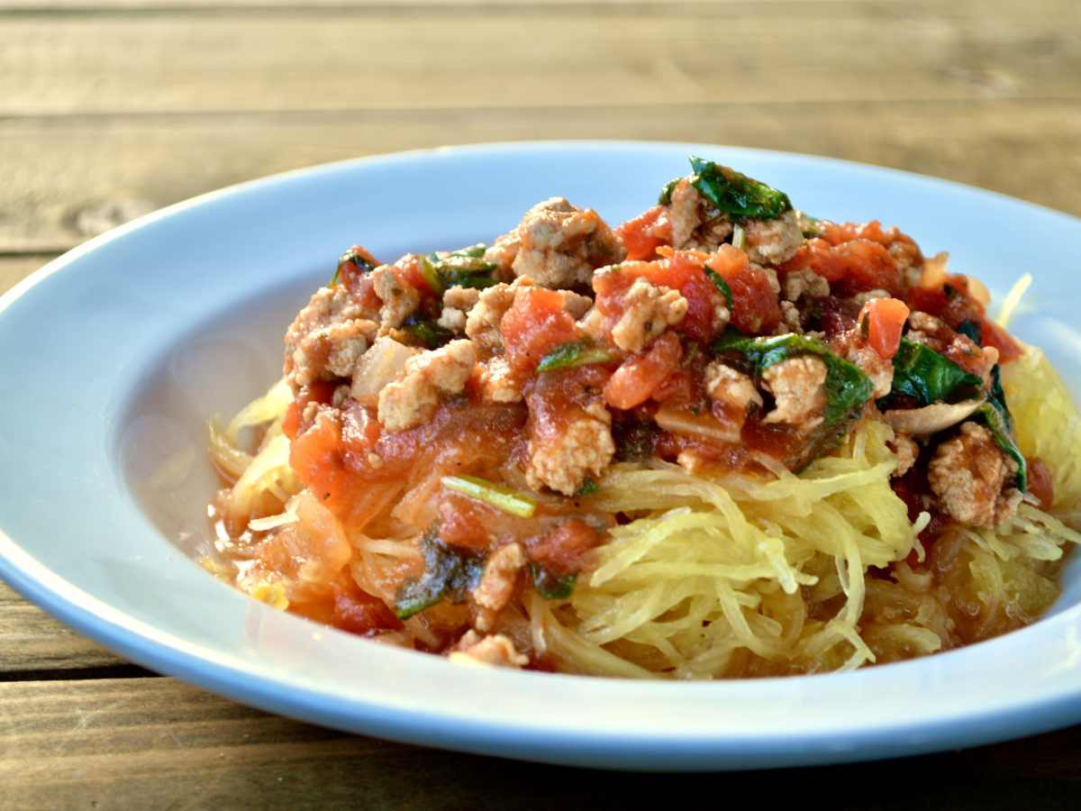 Spaghetti Squash with Garden Herb Sauce