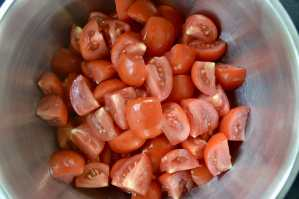 chopped fresh tomatoes