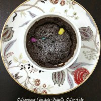 Microwave Chocolate-Nutella Mug-Cake