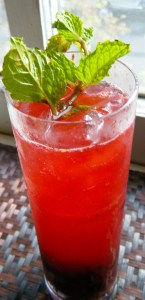 Blackberry Mint Fizz