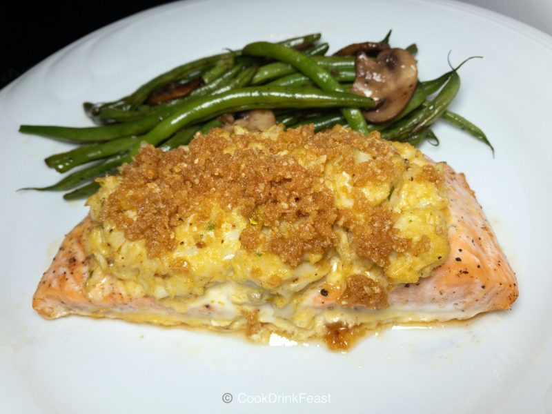Crab Imperial-Stuffed Salmon