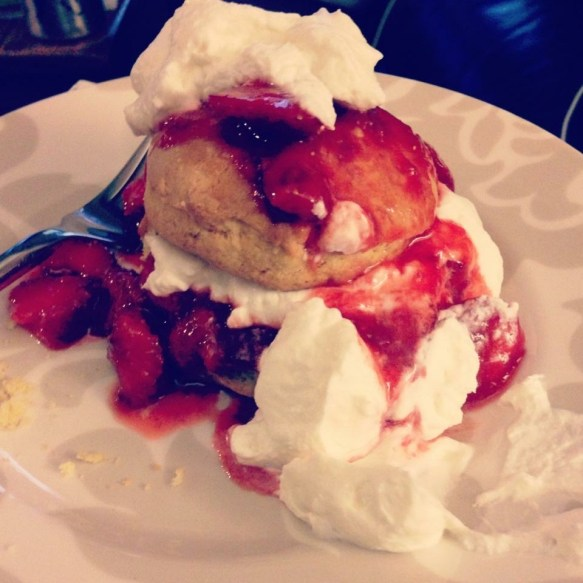 Jeff's Strawberry Shortcake, that he only makes once a year