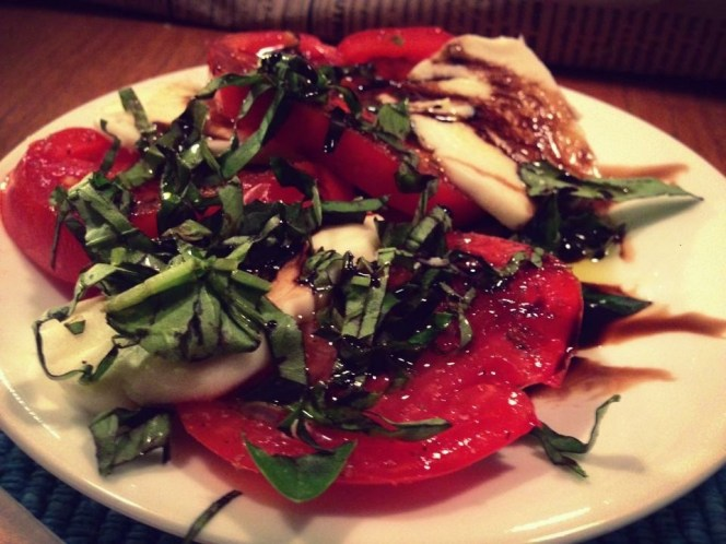 Caprese salad, our summertime house staple.