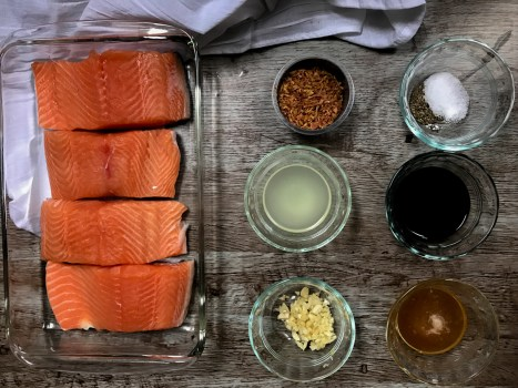 Food Photography :: Asian Salmon Steaks
