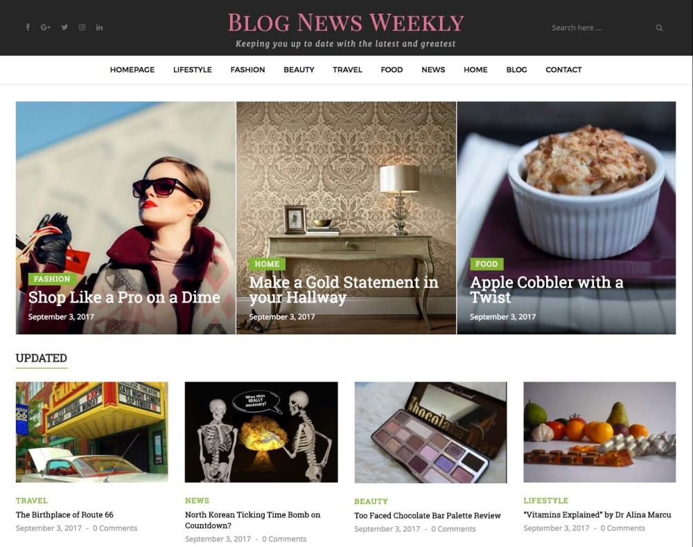 Second feature on BlogNewsWeekly.com