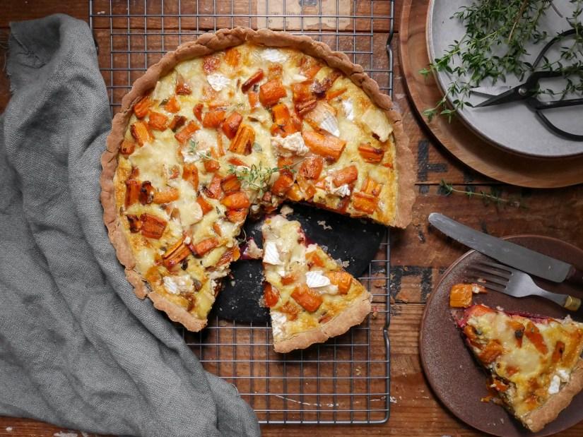 Glutenvrije hartige taart met wortel, biet en brie || cooked by Renske