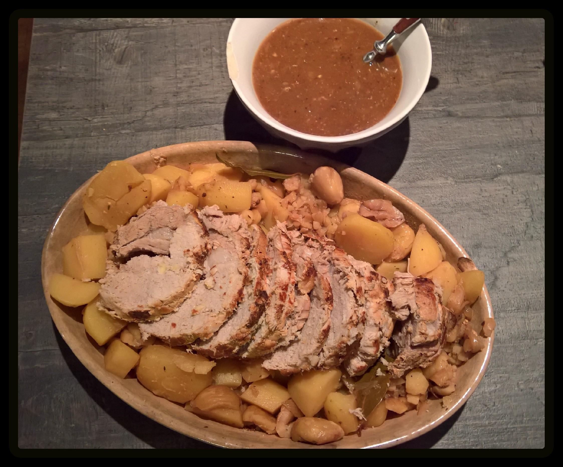 Roti De Porc Aux Pommes De Terre Et Chataignes Recettes