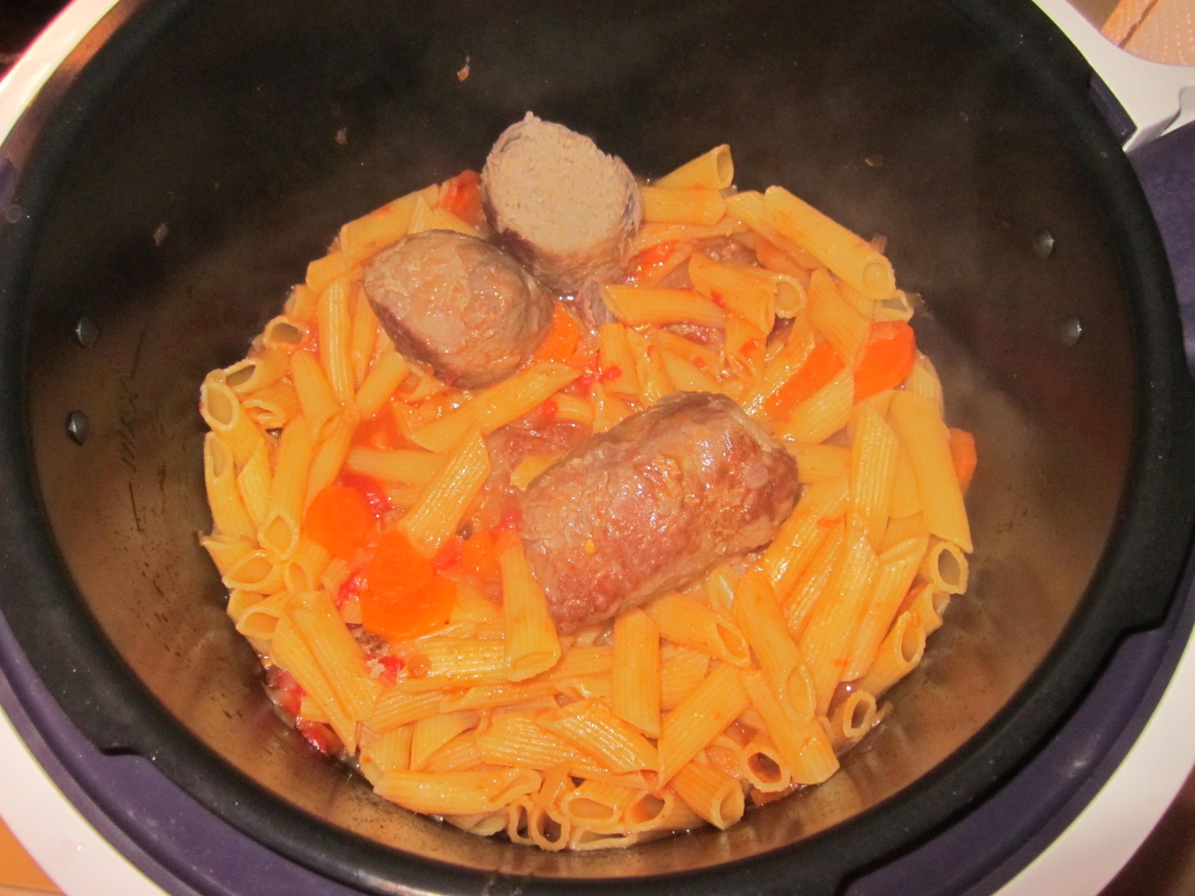 Paupiettes de veau sauce tomate et pennes | Recettes Cookeo on