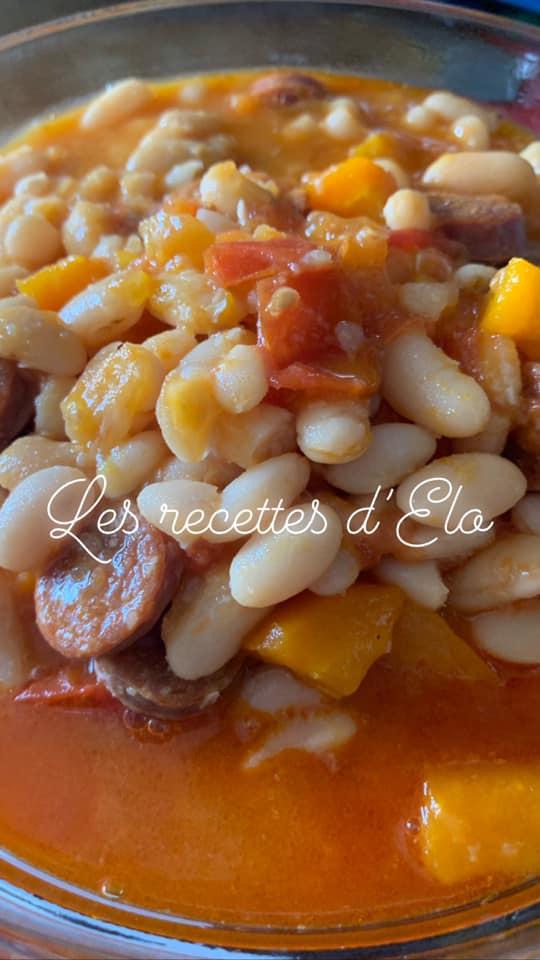 Cuisson Haricots Blancs Frais : cuisson, haricots, blancs, frais, Haricots, Blancs, Chorizo, Recette, Cookeo