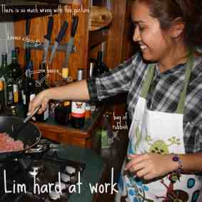 Lim Hard at Work in my grubby kitchen Cooker and a Looker