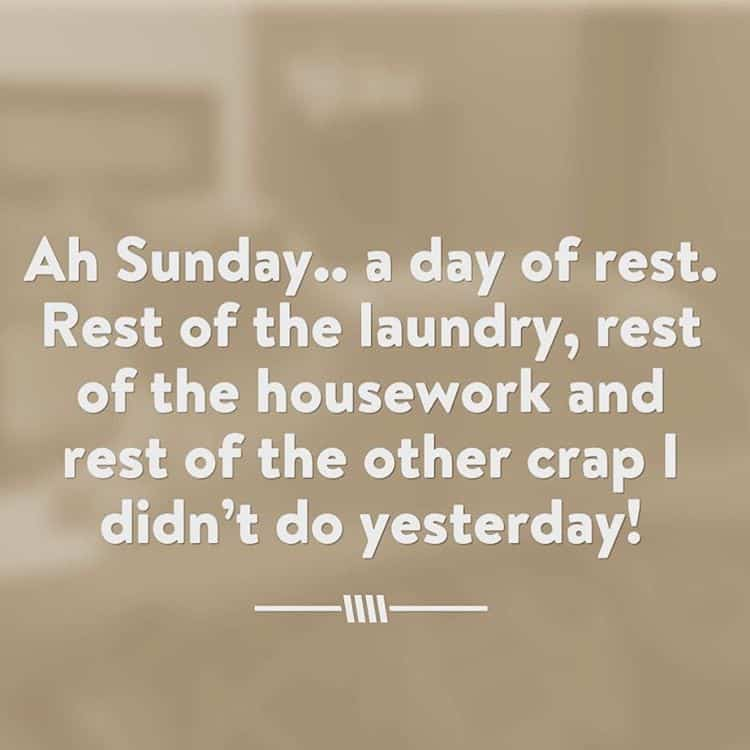 Ah Sunday a day of rest Rest of the laundryhellip