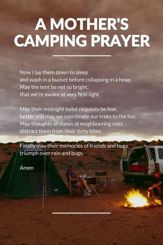 a camping mum's prayer