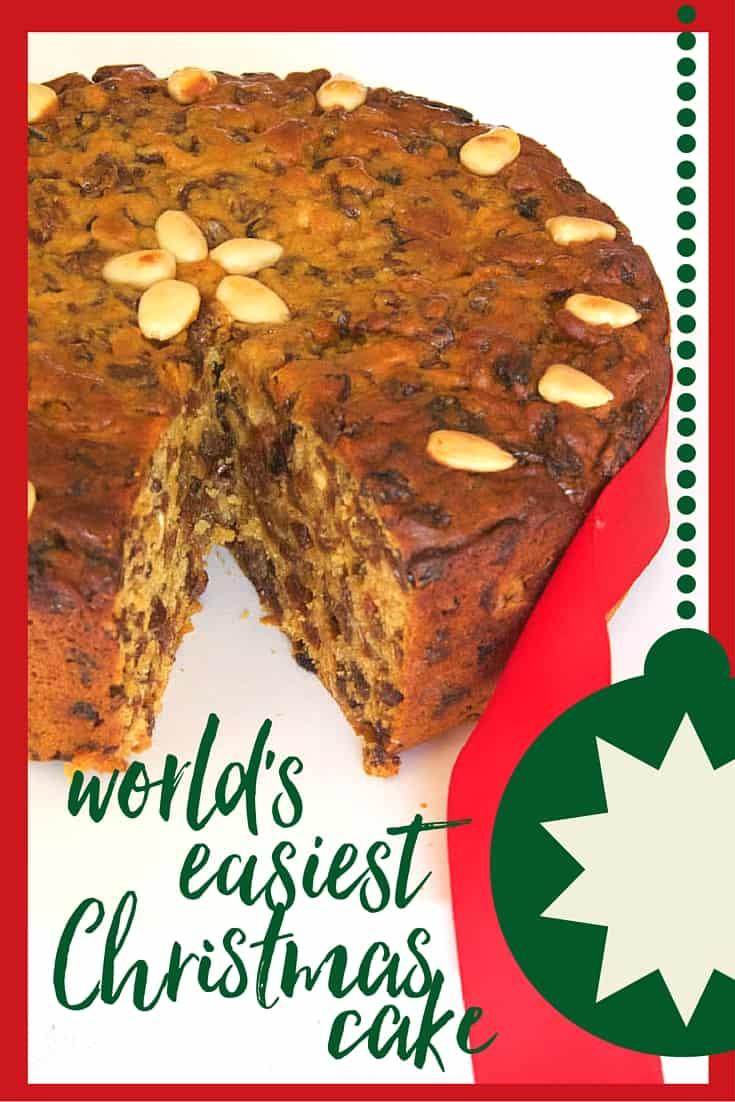 the world\'s easiest Christmas cake