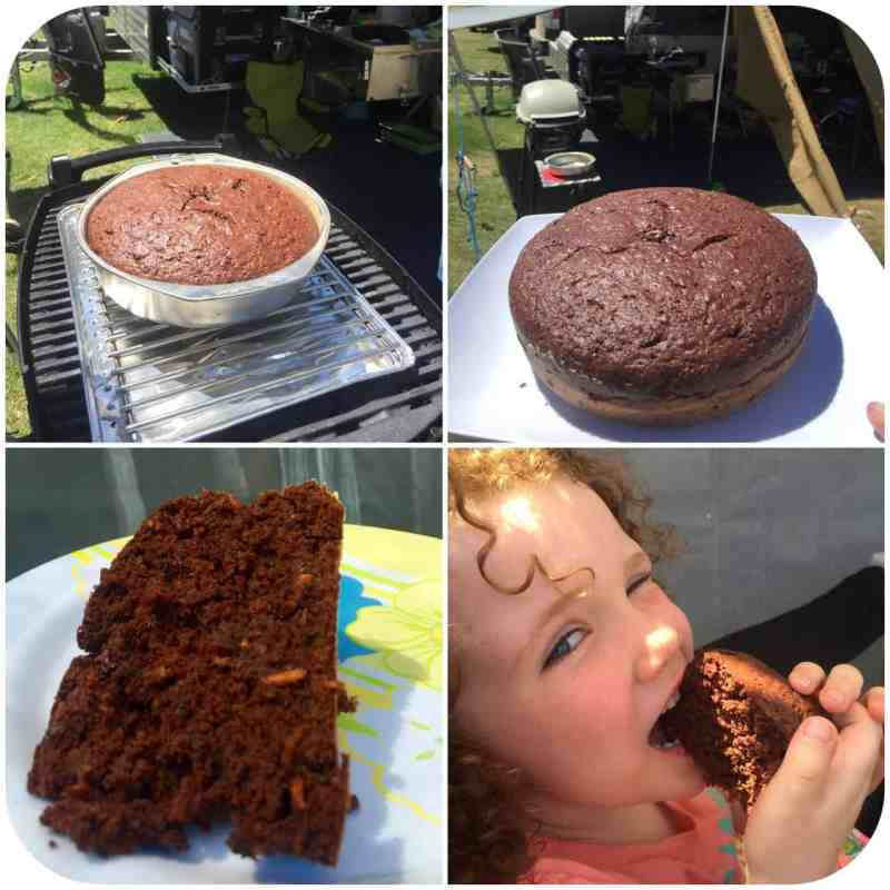 how to bake a cake on the BBQ