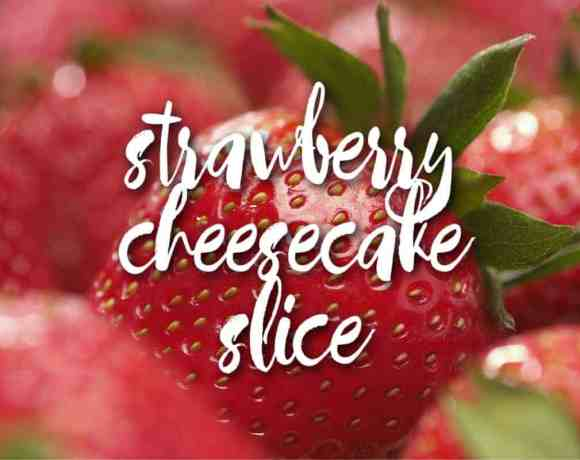 no-bake strawberry cheesecake slice